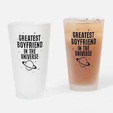Greatest Boyfriend In The Universe Drinking Glass