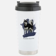 Unique Alaskan klee kai Travel Mug