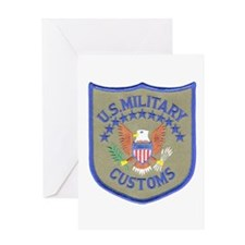 Military Customs Greeting Card