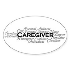 Caregiver Oval Decal