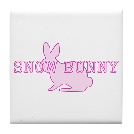 Snow Bunny Tile Coaster
