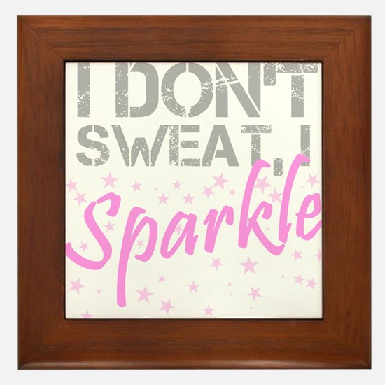 Sparkle Sweat Framed Tile