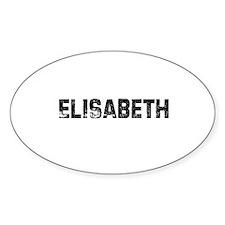 Elisabeth Oval Decal