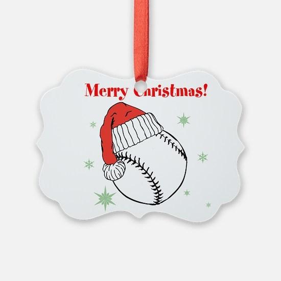 MerryChristmasBaseball Ornament
