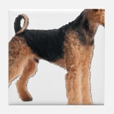 Cool Airedale terrier rescue Tile Coaster