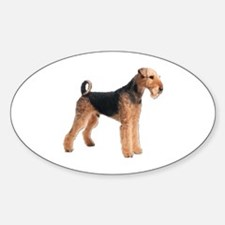 Cute Airedale dog rescue Decal