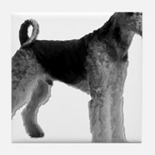 Cute Airedale terrier rescue Tile Coaster
