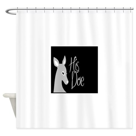 his and hers bathroom set. his doe shower curtain and hers bathroom set