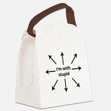 Unique Stupid Canvas Lunch Bag