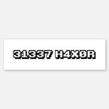 31337 H4X0R Bumper Bumper Bumper Sticker