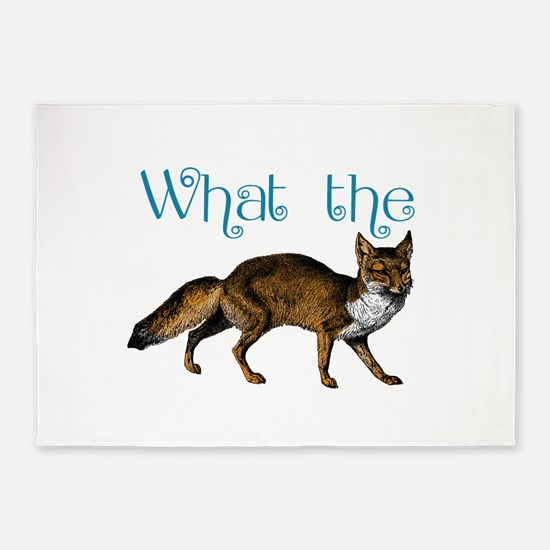 What the Fox 5'x7'Area Rug