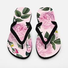 Pink Trio Rose Flip Flops