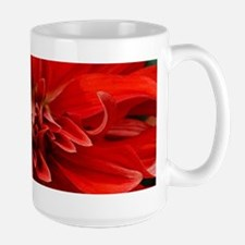 Red dahlia flower Mugs