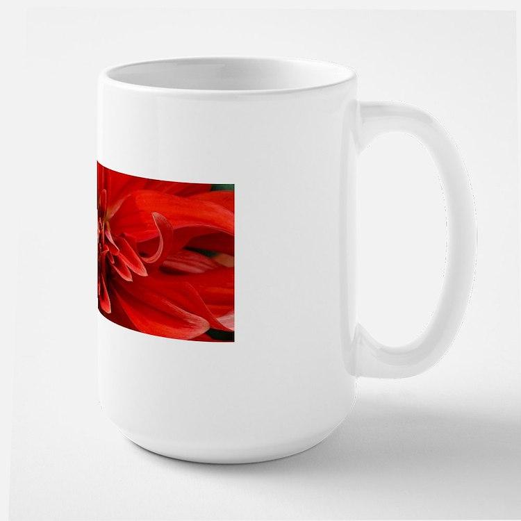 Red dahlia flower Mugs