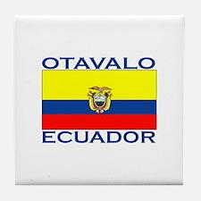 Otavalo, Ecuador Tile Coaster