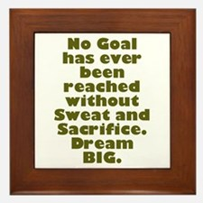 Sweat and Sacrifice Framed Tile