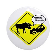 Welcome to Alaska Ornament (Round)