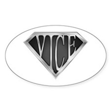 SuperVice(metal) Oval Decal