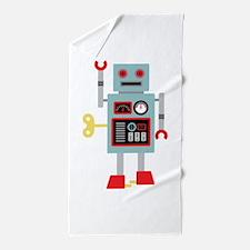 Robot Toy Beach Towel