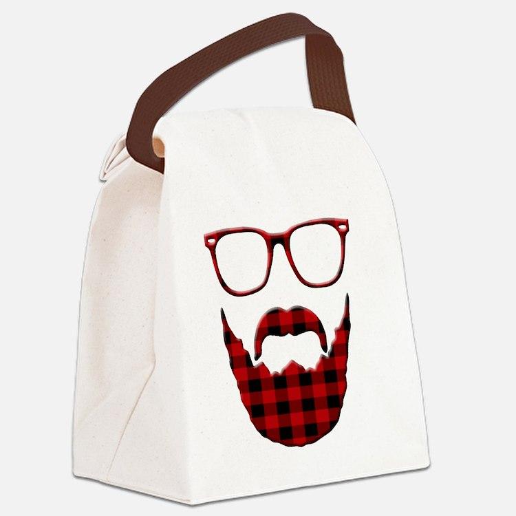 Cute Beard Canvas Lunch Bag