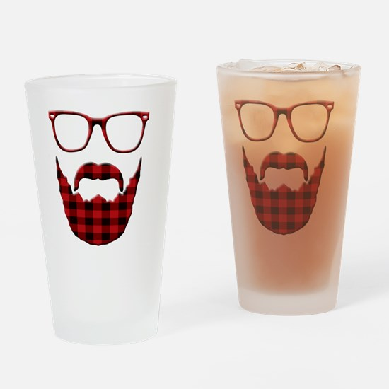 Cute Beard and glasses Drinking Glass