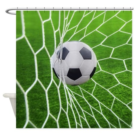 Captivating Football Goal Shower Curtain