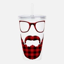 Cute Plaid Acrylic Double-wall Tumbler