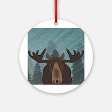 Moose Round Ornament