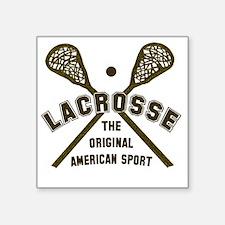 "Cute Lacrosse design Square Sticker 3"" x 3"""