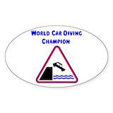 Diving car decals Single