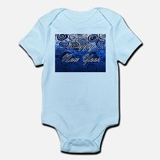 Happy New Year Blue Swirls Body Suit