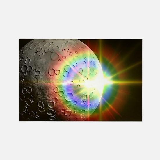 Cute Moon stars Rectangle Magnet