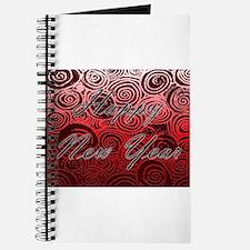 Happy New Year Red Swirls Journal