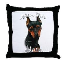Min Pin Mom2 Throw Pillow