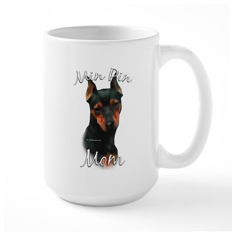 Min Pin Mom2 Large Mug
