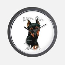 Min Pin Mom2 Wall Clock