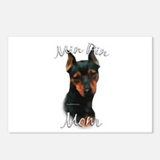 Min Pin Mom2 Postcards (Package of 8)