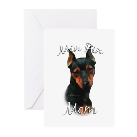 Min Pin Mom2 Greeting Cards (Pk of 10)