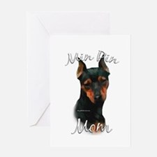 Min Pin Mom2 Greeting Card
