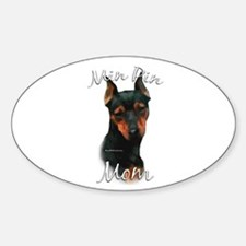 Min Pin Mom2 Oval Decal