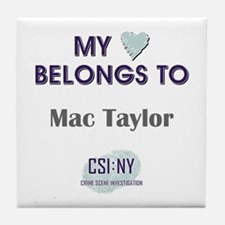 MAC TAYLOR Tile Coaster