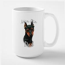 Min Pin Dad2 Large Mug
