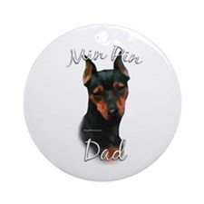 Min Pin Dad2 Ornament (Round)