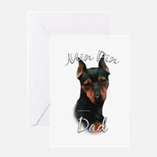 Min Pin Dad2 Greeting Card