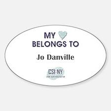 JO DANVILLE Sticker (Oval)