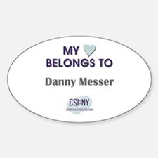 DANNY MESSER Sticker (Oval)
