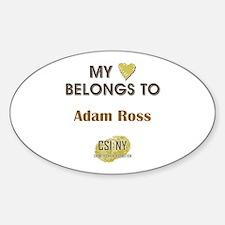 ADAM ROSS Sticker (Oval)