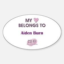 AIDEN BURN Sticker (Oval)