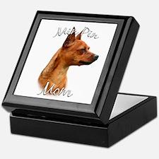 Min Pin Mom2 Keepsake Box