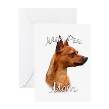 Min Pin Mom2 Greeting Card